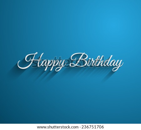 Vector Happy Birthday Greeting Background Long Vector De Stock