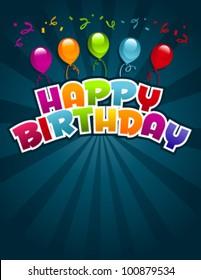 Vector happy birthday greeting card stock vector royalty free vector happy birthday greeting card m4hsunfo