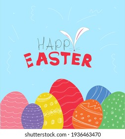 Vector Of The Happy Easter