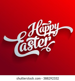 Vector happy easter greeting card template