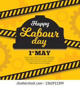 Vector Happy Labor Day design - 1 May for banner, poster, leaflet. Eps 10 vector illustration.