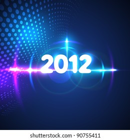 vector happy new year 2012 creative style light flare illustration