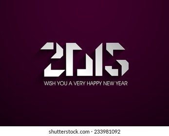 Vector Happy New year 2015 design with Stylish text