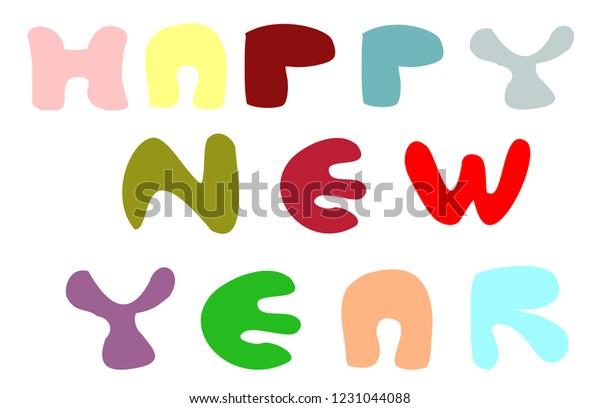 Happy New Year Flat Design 83