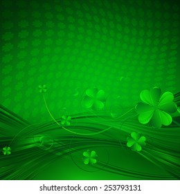 Vector Happy Saint Patrick's Day Background with clover