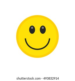 Vector happy smile icon. Vector emoticon. Yellow smile. Yellow emoticon. Isolated emoticon icon