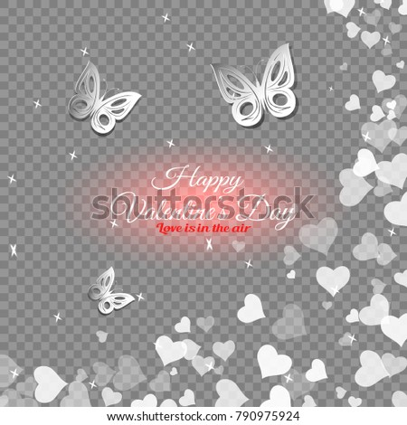 Vector Happy Valentines Day Transparent Background Stock Vector