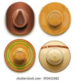 Vector Hats Set