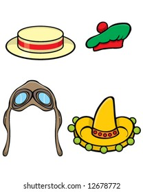 vector hats for your photo album or scrapbook, or to blackmail your friends and family