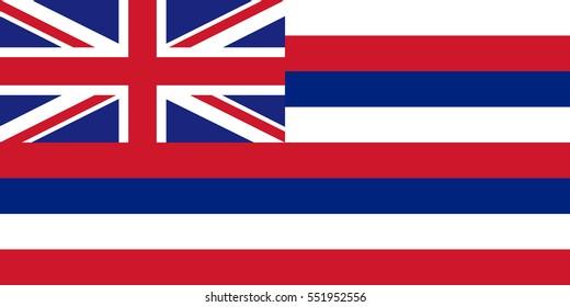Vector Hawaii Flag