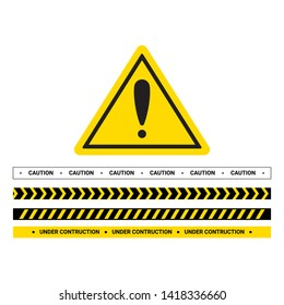 Vector hazard frame. Caution frame with black and yellow stripes