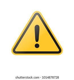 vector hazard general warning sign, symbol, icons