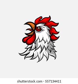 vector head rooster