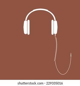 Vector headphones icon. DJ Headphones.