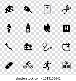 vector health care icons set. medical & medicine sign symbols - fitness and healthcare icons