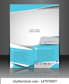 Vector Health Insurance Flyer, Magazine Cover & Poster Template