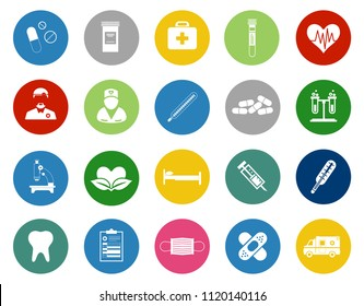 vector healthcare icons - medical care sign symbols