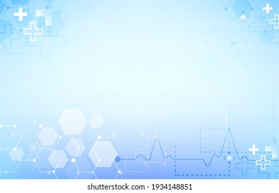 vector healthcare and medical science.futuristic background