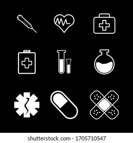 Vector health-themed icon. Health and medical icons. Icons in a minimalist flat design style