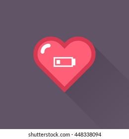 Vector Heart & conceptual icon