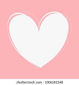 Vector heart frame