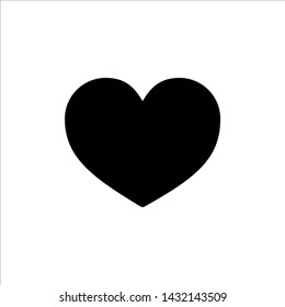 Vector Heart icon. black Love symbol with trendy flat style icon for web site design, logo, app, UI isolated on white background