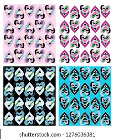 Vector Heart Illustration, pattern