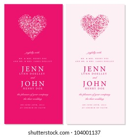 Vector Heart Invitation Frames. Easy to edit. Perfect for invitations or announcements.
