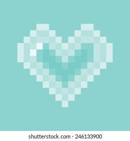 Vector Heart Pixel Icon