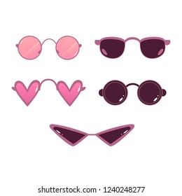 29717a5888c Different Types Glasses Lenses Shape Heart Stock Vector (Royalty ...