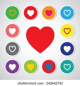 vector heart shape symbol design