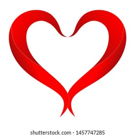 """""""Vector heart symbol , Love symbol on white background.Love emblem.Graphic design in the concept of love.Vector love symbol for Valentine's Day.Vector illustration."""""""