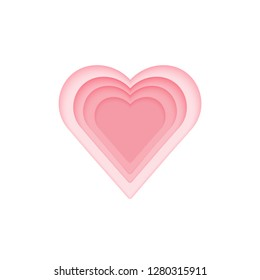 Vector heart that looks deeper, gives a feeling of falling in love.