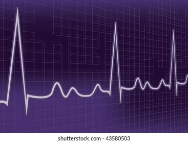 Vector Heartbeat Background