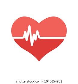 vector Heartbeat icon, health monitor, health care