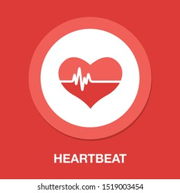 vector Heartbeat icon, health monitor, health care