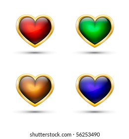 Vector hearts. Set.