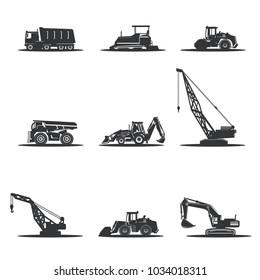 Vector heavy construction machinery.