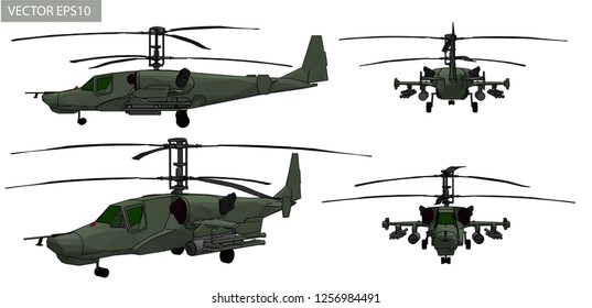 Vector helicopter for military