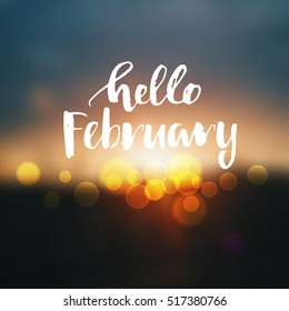 vector hello  February poster