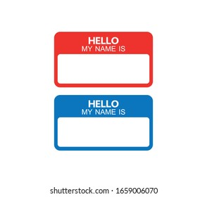 vector Hello my name is label sticker