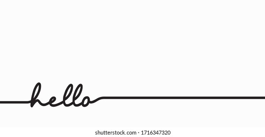 vector of hello word greetings for the background. calligraphy of hello vector.
