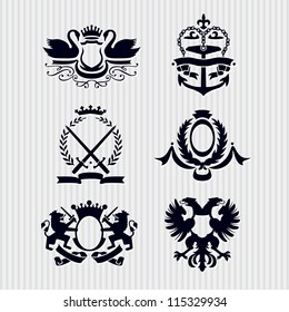 Vector Heraldic Royal Crests Coat of Arms