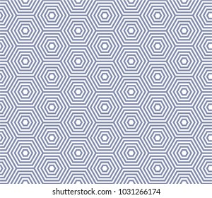Vector hexagon based line seamless pattern