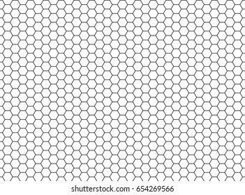 Vector hexagon honeycomb seamless background pattern. Cell Texture. Speaker grill.