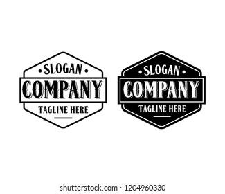 Vector Hexagon Vintage Retro Logo Design Inspiration