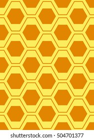 Vector hexagons background. Geometric pattern. Graphic or website layout. Abstract vector with colorful hexagonal honey combs