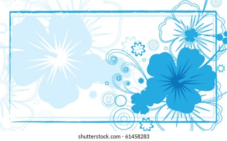 Vector Hibiscus / Tropical Card
