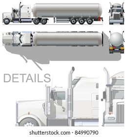 Vector hi-detailed tanker semi-rtuck