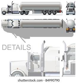 Vector hi-detailed tanker semi-rtuck